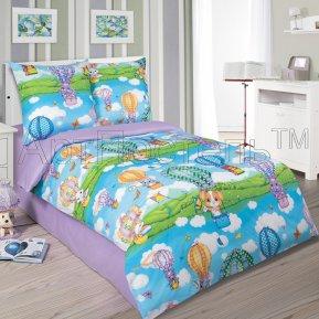 «Путешествие» 1,5 - спальное постельное белье, ПОПЛИН, Арт Дизайн