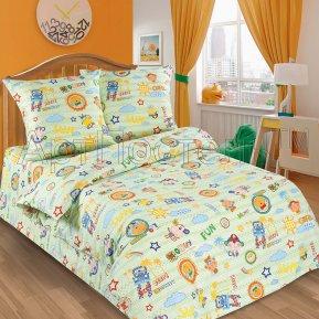 «Улыбка» 1,5 - спальное постельное белье, ПОПЛИН, Арт Дизайн