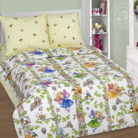 «Лесные феи» 1,5 - спальное постельное белье, Поплин, Арт Дизайн