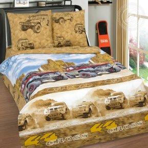 «Каньон» 1,5 - спальное постельное белье, Поплин, Арт Дизайн