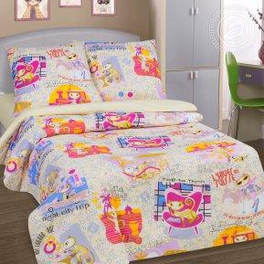 «Уик-энд беж.» 1,5 - спальное постельное белье, Поплин, Арт Дизайн