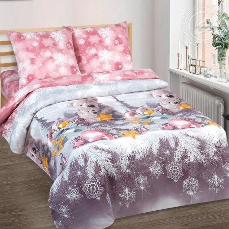 «Ласковый мишка» 1,5 - спальное постельное белье, Поплин, Арт Дизайн
