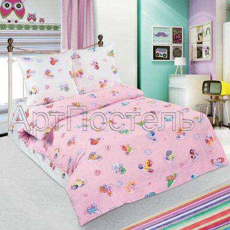 «Бусинка (розовый)» 1,5 - спальное постельное белье, Поплин, Арт Дизайн