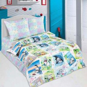 «Мурзик» 1,5 - спальное постельное белье, ПОПЛИН, Арт Дизайн