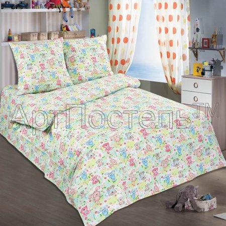 «Ушастики» 1,5 - спальное постельное белье, Поплин, Арт Дизайн