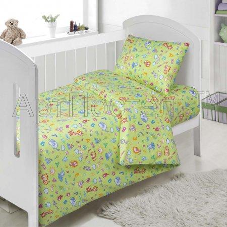«АБВГДейка» дет. кроватка постельное белье, Поплин, Арт Дизайн