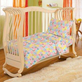 «Беззаботное детство» дет. кроватка постельное белье, ПОПЛИН, Арт Дизайн