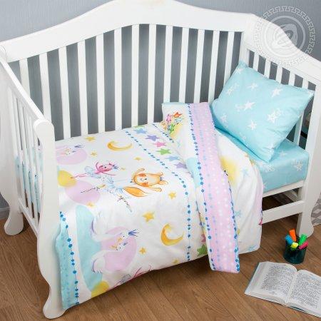 «Акварельки» дет. кроватка постельное белье, Поплин, Арт Дизайн