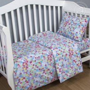 «Сердечки» дет. кроватка постельное белье, Поплин, Арт Дизайн