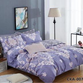 «CKA-4-007» двуспальное с европростыней постельное белье, Сатин, АльВиТек