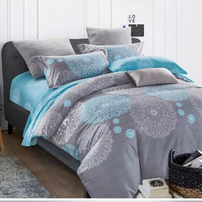 «CKA-4-012» двуспальное с европростыней постельное белье, Сатин, АльВиТек