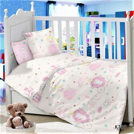 «KT-89 Маленькая Принцесса» дет. кроватка постельное белье, Сатин, АльВиТек