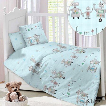 Постельное белье «KT-106 Семейка Роботов» дет. кроватка, Сатин, АльВиТек