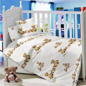 «KT-79 Кубики» дет. кроватка постельное белье, Сатин, АльВиТек