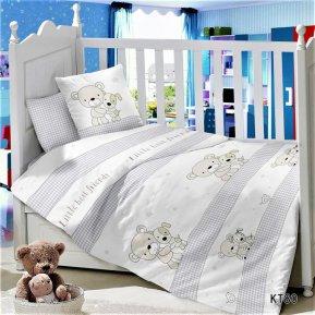 «KT-80 Маленькие друзья» дет. кроватка постельное белье, Сатин, АльВиТек