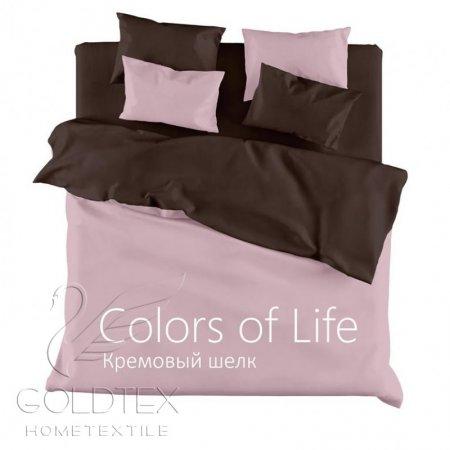 Постельное белье «Кремовый шелк» 1,5 - спальное, Сатин, Goldtex