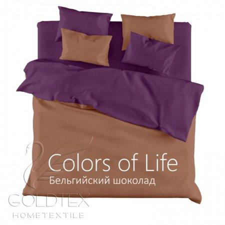 Постельное белье «Бельгийский шоколад» 1,5 - спальное, Сатин, Goldtex