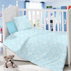 Ажур (голубой) дет. кроватка