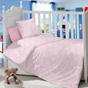 Ажур (розовый) дет. кроватка