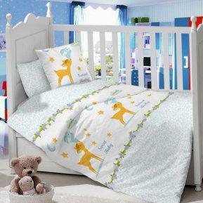 Олененок (голубой) дет. кроватка