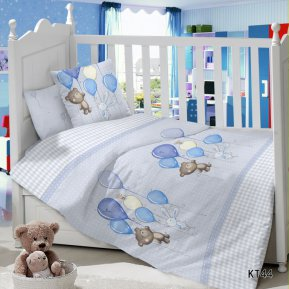 Воздушный шарик (голубой) дет. кроватка
