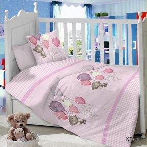 Воздушный шарик (розовый) дет. кроватка