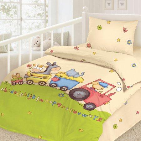 «На ферме» дет. кроватка постельное белье, Сатин, НордТекс