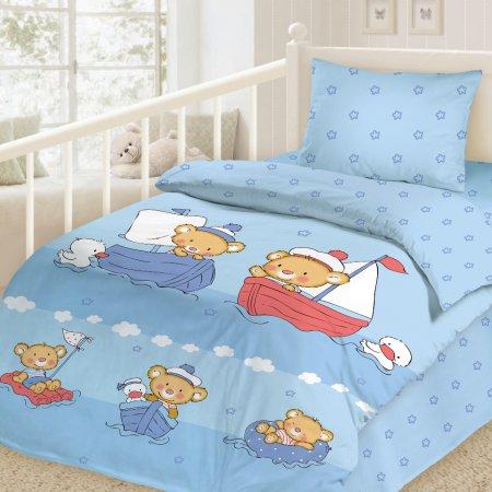 «Отважные моряки» дет. кроватка постельное белье, Сатин, НордТекс
