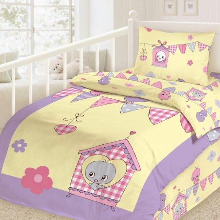 «Птички» дет. кроватка постельное белье, Сатин, НордТекс