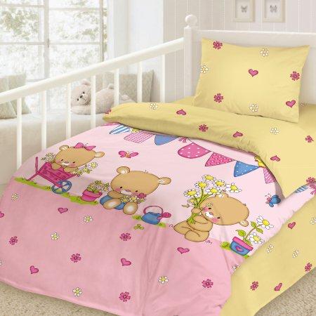 «Весна» дет. кроватка постельное белье, Сатин, НордТекс