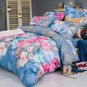 «D-187» семейное постельное белье, Сатин, СайлиД