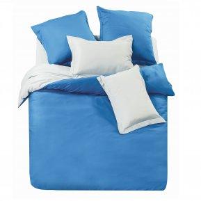 «L8» двуспальное+Евро постельное белье, Сатин, СайлиД