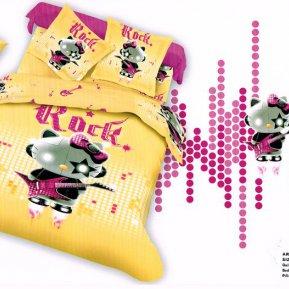 «TS02-875-50» двуспальное с европростыней постельное белье, САТИН, TANGO