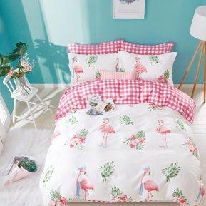 «TPIG2-537-50» двуспальное с европростыней постельное белье, САТИН, TANGO