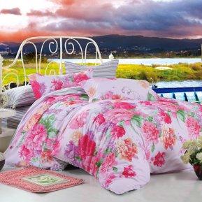 «TPIG2-57-70» двуспальное с европростыней постельное белье, САТИН, TANGO
