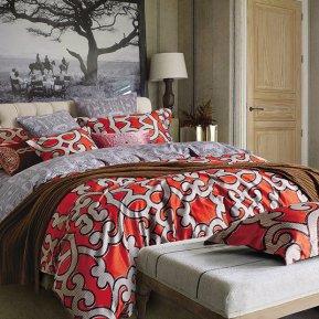 «TS02-404-70» двуспальное с европростыней постельное белье, САТИН, TANGO
