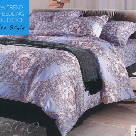 Постельное белье «TS02-668-50» двуспальное с европростыней, Сатин, TANGO