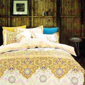 «TPIG2-738-50» двуспальное с европростыней постельное белье, САТИН, TANGO