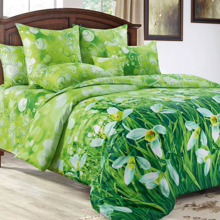 Постельное белье «Подснежники» 1,5 - спальное, Сатин, Текс-Дизайн