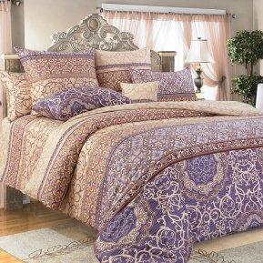 «Визаж» двуспальное с европростыней постельное белье, Сатин, Текс-Дизайн