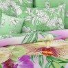 Постельное белье «Мальдивы 1 зел» двуспальное с европростыней, Сатин, Текс-Дизайн