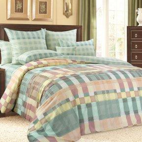 «Соло 1 зел» двуспальное с европростыней постельное белье, Сатин, Текс-Дизайн