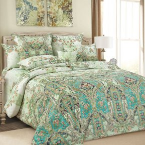 «Совершенство» двуспальное с европростыней постельное белье, Сатин, Текс-Дизайн
