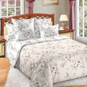 «Виктория 4 беж» семейное постельное белье, Сатин, Текс-Дизайн