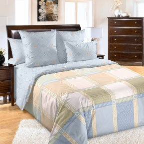 «Реприза 5 беж» 1,5 - спальное постельное белье, Сатин, Текс-Дизайн