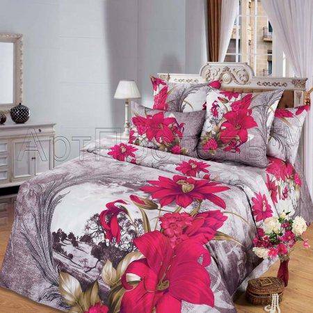 Постельное белье «Чародейка» двуспальное с европростыней, Сатин, Арт Дизайн