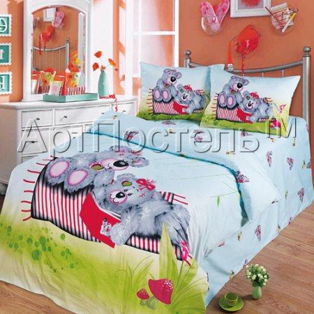 «Друзья» 1,5 - спальное постельное белье, Сатин, Арт Дизайн
