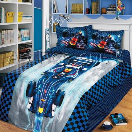 «Энергия победы» 1,5 - спальное постельное белье, Сатин, Арт Дизайн