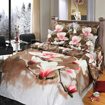 Постельное белье «Флёр №2» 1,5 - спальное, Сатин, Арт Дизайн