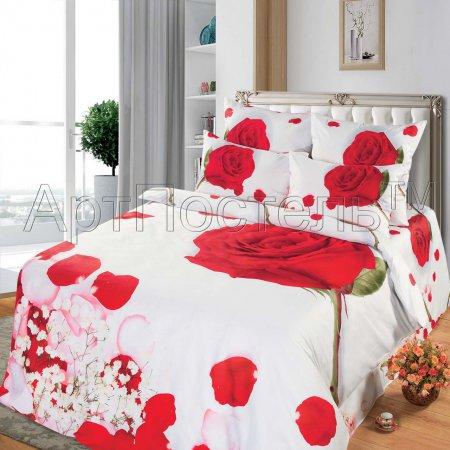 Постельное белье «Королева» 1,5 - спальное, Сатин, Арт Дизайн